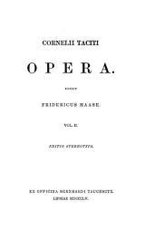 Cornelii Taciti Opera: Volume 2