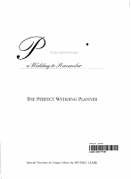 Planning a Wedding to Remember PDF