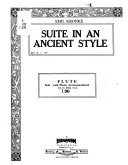 Suite in an ancient style PDF
