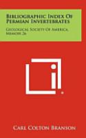 Bibliographic Index of Permian Invertebrates PDF