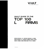 Vault Guide to the Top 100 Law Firms PDF