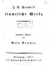 Sämtliche Werke: Mein Sommer, Band 10
