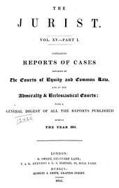 The Jurist: Volume 15, Part 1