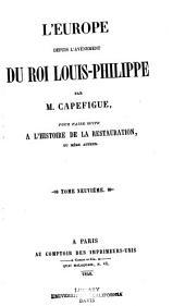 L'Europe depuis l'avénement du roi Louis-Philippe: Volume9
