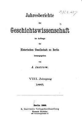 Jahresberichte der Geschichtswissenschaft PDF