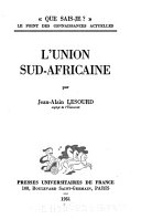 Download L Union Sud africaine Book