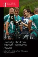 Routledge Handbook of Sports Performance Analysis PDF