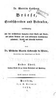 Dr  Martin Luthers Briefe  sendschreiben und bedenken PDF