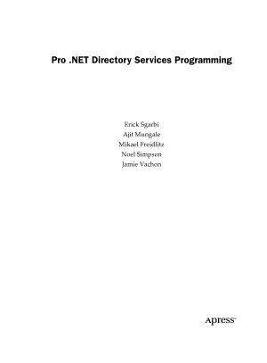 Pro  NET Directory Services Programming