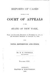 Reports of Cases Decided in the Court of Appeals of the State of New York: Volume 111