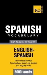 Spanish Vocabulary For English Speakers 5000 Words Book PDF