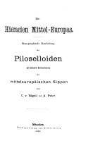 Die Hieracien Mittel Europas PDF
