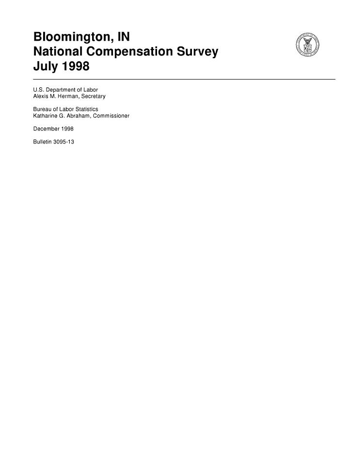 Bloomington, IN, Bulletin 309513, July 1998
