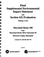 MD 100 Highway Improvements  MD 104 to I 95  Howard County PDF