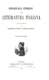 Giornale storico della letteratura italiana: Volume 23