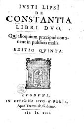 Justi Lipsi De constantia libri duo ...