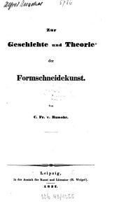Zur Geschichte und Theorie der Formschneidekunst
