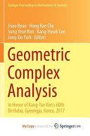 Geometric Complex Analysis PDF