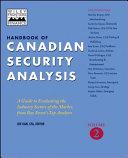 Handbook of Canadian Security Analysis