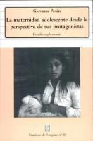 La maternidad adolescente desde la perspectiva de sus protagonistas PDF