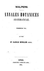 Annales Botanices Systematicae: Volume 6