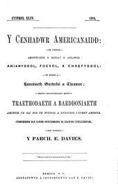 Y Cenhadwr americanaidd: Volume 44