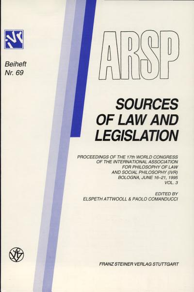 Download Sources of Law and Legislation Book