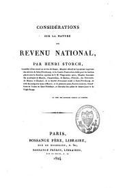 Considérations sur la nature du revenu national: Volume5
