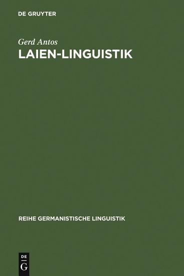 Laien Linguistik PDF