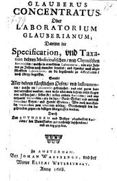 Glauberus concentratus oder Laboratorium Glauberianum ..