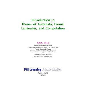 INTRODUCTION TO THEORY OF AUTOMATA  FORMAL LANGUAGES  AND COMPUTATION PDF