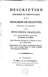 Description historique et chronologique des monumens de sculpture réunis au Musée des monumens français: suivie d'un traité historique de la peinture sur verre