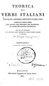 Teorica dei verbi italiani regolari, anomali, difettivi e mal noti