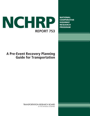 A Pre event Recovery Planning Guide for Transportation PDF