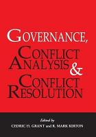 Governance  Conflict Analysis and Conflict Resolution PDF