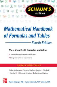 Schaum s Outline of Mathematical Handbook of Formulas and Tables  4th Edition PDF