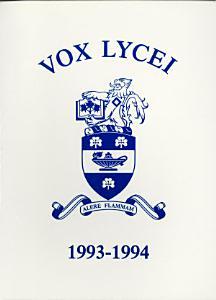Vox Lycei 1993-1994