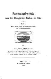 Forschungsberichte aus der Biologischen Station zu Plön: Bände 3-4