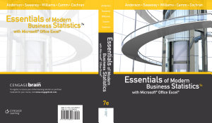 Essentials of Modern Business Statistics with Microsoft Office Excel  Book Only  PDF
