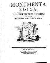Monumenta Boica: Band 14