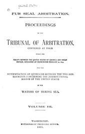 Fur Seal Arbitration: Volume 3