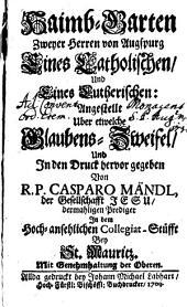 Haimb-Garten zweyer Herren von Augsburg