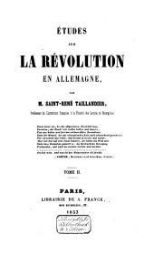 Études sur la révolution en Allemagne: Volume2