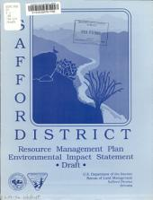 Safford District Resource Management Plan and Environmental Impact Statement: Draft