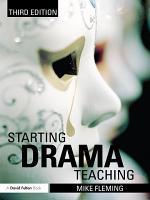 Starting Drama Teaching PDF