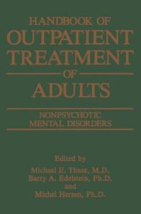 Handbook of Outpatient Treatment of Adults Book