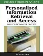 Personalized Information Retrieval and Access: Concepts, Methods and Practices