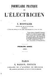 Formulaire pratique de l'électricien: Volume1