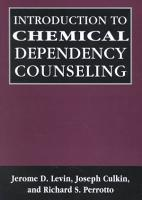 Introduction to Chemical Dependency Counseling PDF