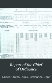 Annual Report of the Chief of Ordnance ...
